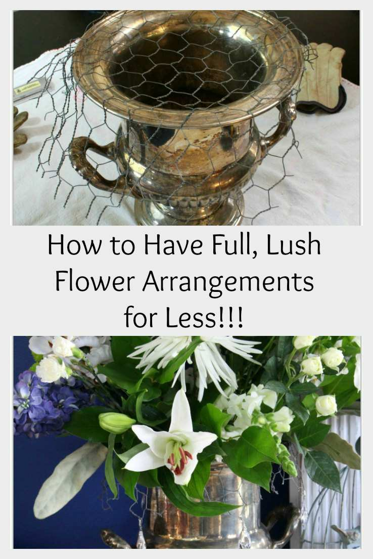 How to Have Full, Lush Flower Arrangements for Less!