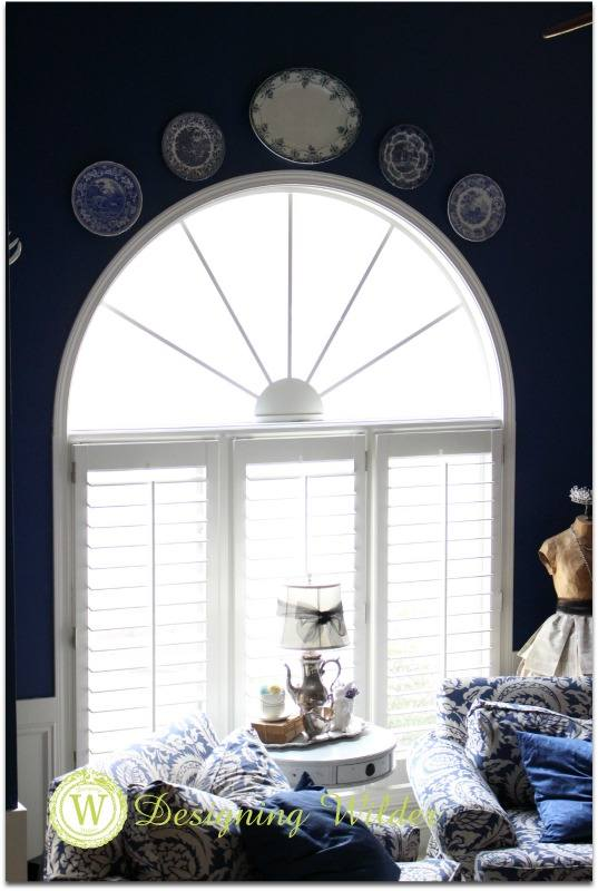 Plates used over an arched window