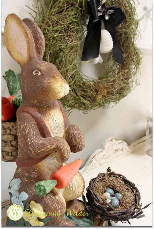 Spring decor garden rabbit.