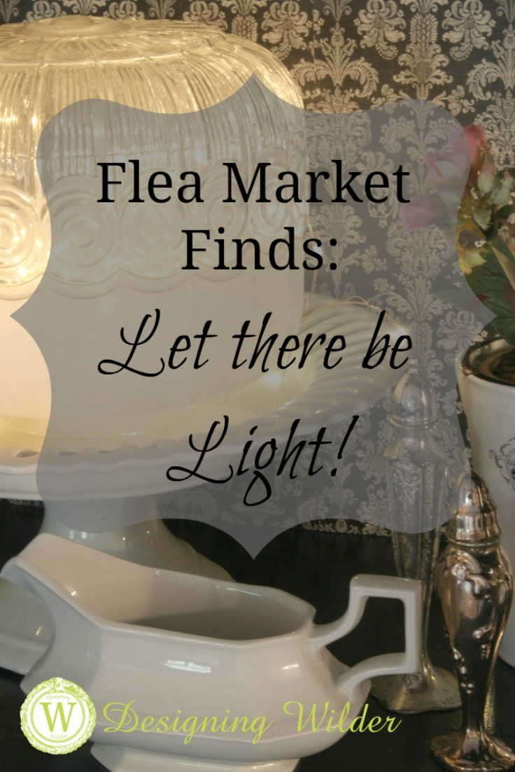 Unique flea market lighting fixtures provide a whimsical touch to any decorating situation from farmhouse and cottage, to industrial chic.
