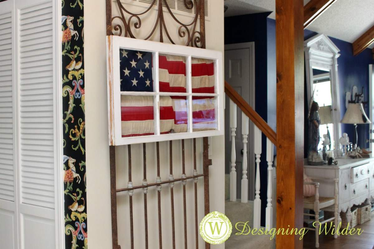 The Patriotic Flag Project is the perfect addition to summer decor that will look perfect from Memorial Day through Labor Day!