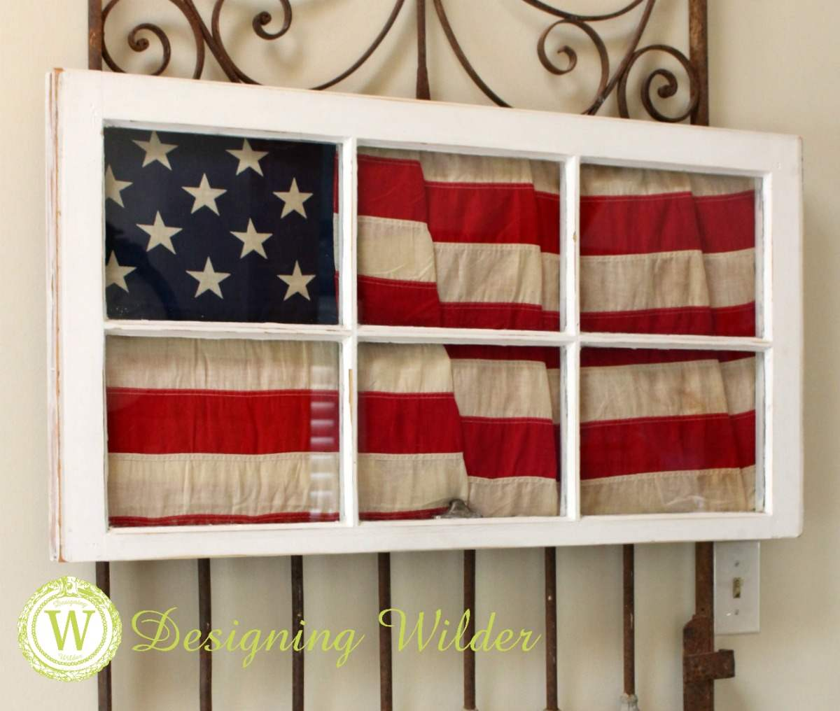 The Flag Decor Project is the perfect addition to summer decor that will look perfect from Memorial Day through Labor Day!