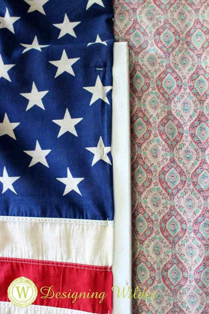 Staple gun used to secure side of folded flag to window from for the Patriotic Flag Project.