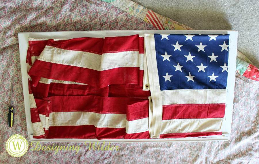 Final folded position for Patriotic Flag Project.