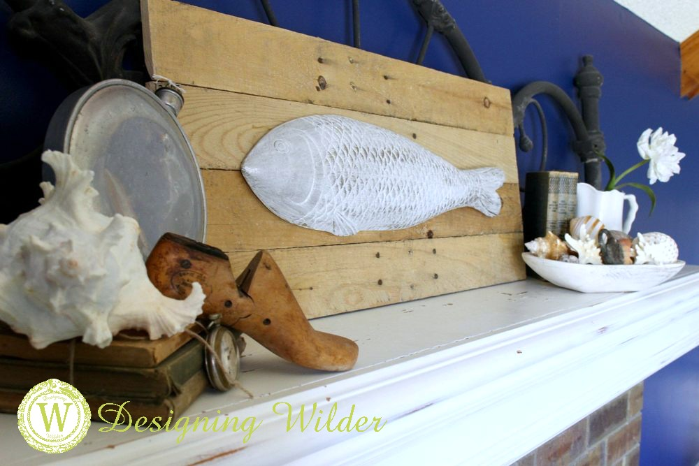 Turn store bought components into your own original DIY fish wall sign perfect for summer decor!
