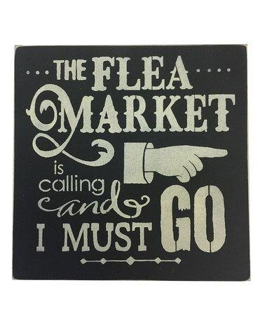 Flea Market Shopping Sign