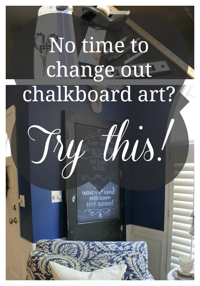 You work so hard to put together the perfect chalkboard creation only to have it get smudged or outlive it's season. Now you can preserve your creations and change them out quickly!