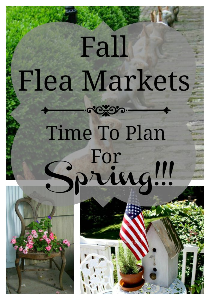 Fall means the flea market is ripe for the picking and vintage sales are abundant making it the best time to score containers & garden art for next year!
