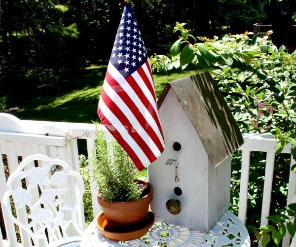 Flea market bird house makes a great statement in your garden!