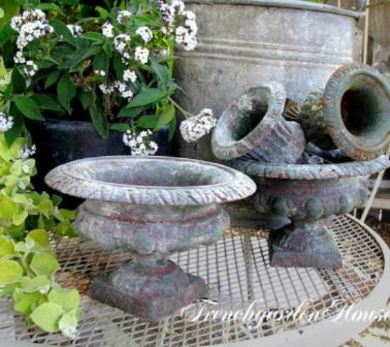 Flea market garden urns come in a wide variety of price points. Look for condition and novel shapes!