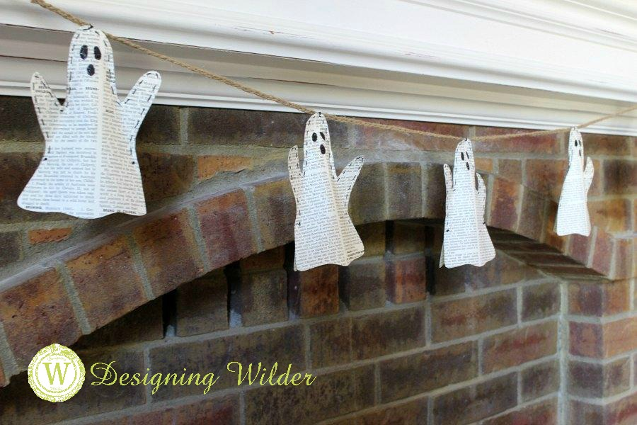 Bring Halloween fun to your current fall decor by adding these easy DIY ghost garlands! Great project for your favorite small people to help with!