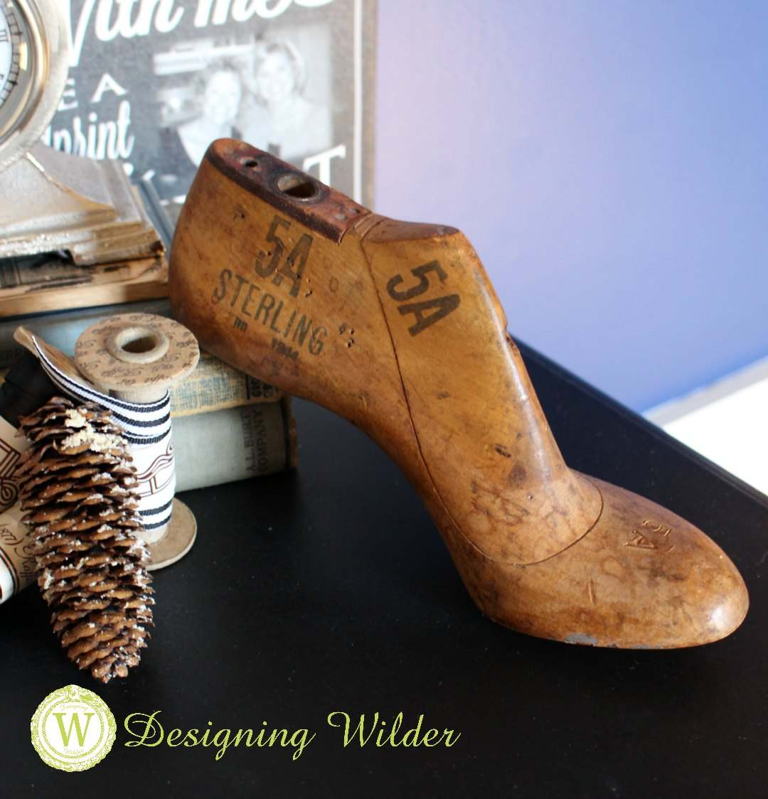 Antique high heel shoe last.