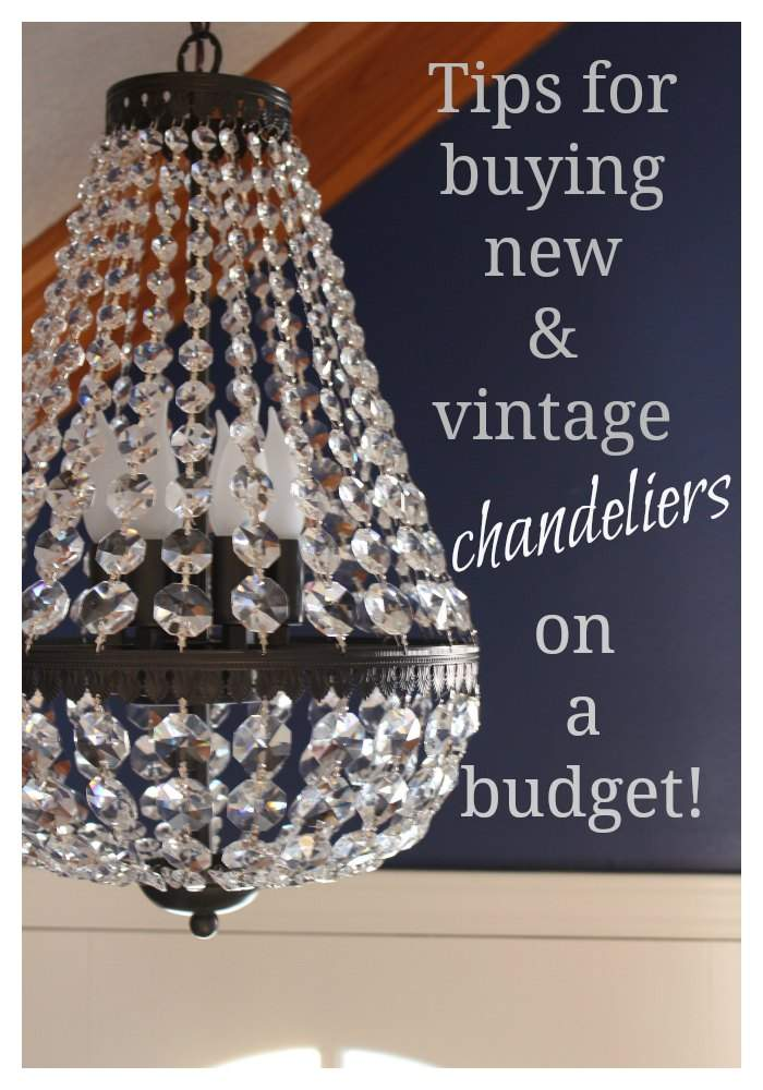 A good chandelier can make my heart skip a beat! Here are some tips to use when selecting new & vintage chandeliers on a budget!