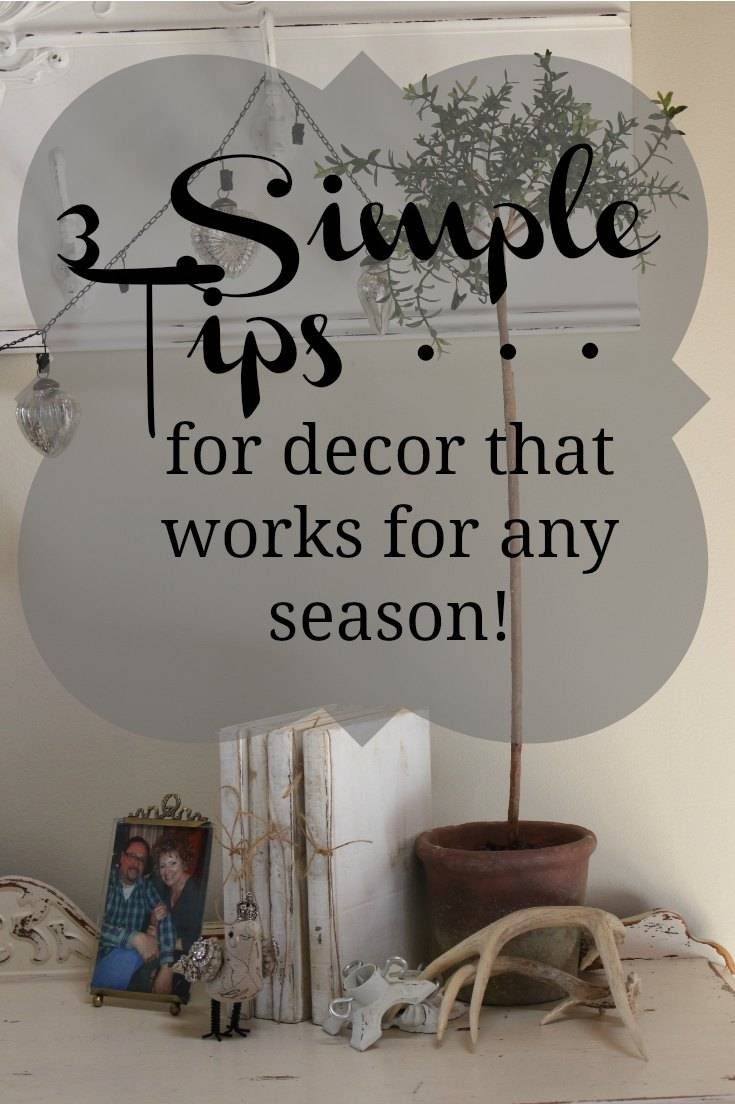Make seasonal decor transitions quick and easy by building vignettes in layers that will allow the displays to transcend seasons and your decorating whims!