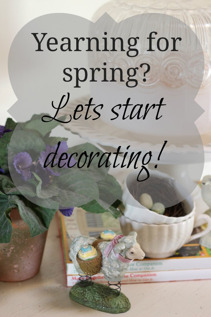 Time for spring decorating has arrived! So break out the bunnies, bird's nests, spring flowering bulbs and branches! Let the spring sprucing begin!