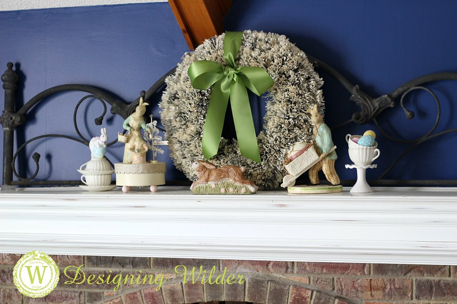 Spring vignettes convert easily into festive Easter decor with a few simple tweaks! Layer in Easter eggs, lily of the valley, and Easter Bunnies on parade!