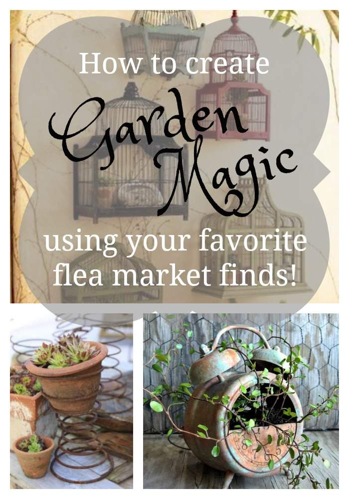 Your favorite vintage finds become magical flea market container garden pieces with a bit of ingenuity and a touch of DIY! The possibilities are endless!