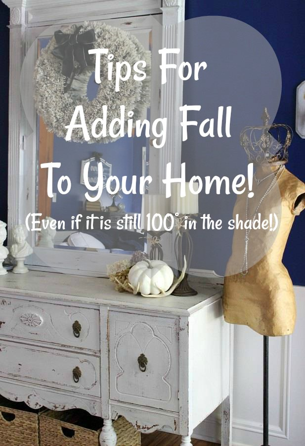 Tips for adding fall to your home! #Fall #DesigningWilder
