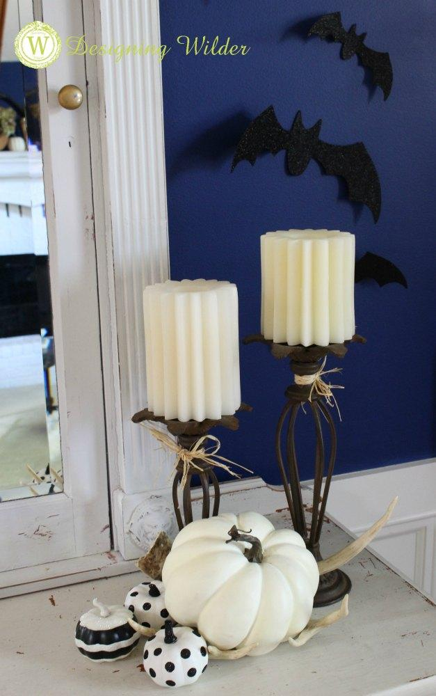 Decorating for Halloween doesn't need to be all-consuming! Do it fast and easy by adding spooky Halloween touches to just two or three high impact areas!