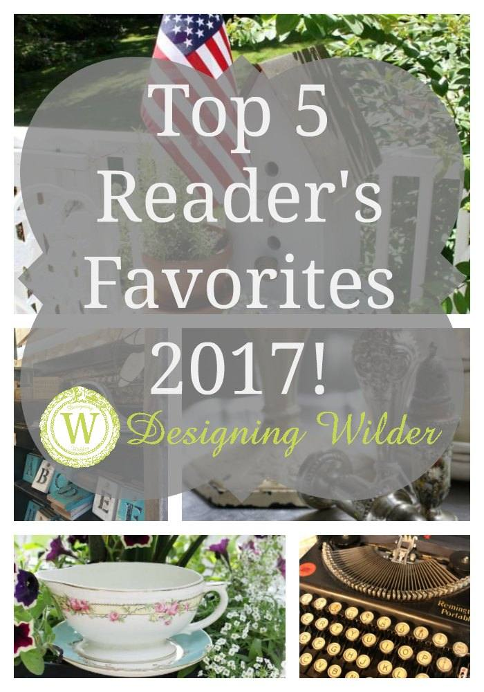 Y'all have weighed in and without further ado--Here are the top 5 Designing Wilder posts of 2017